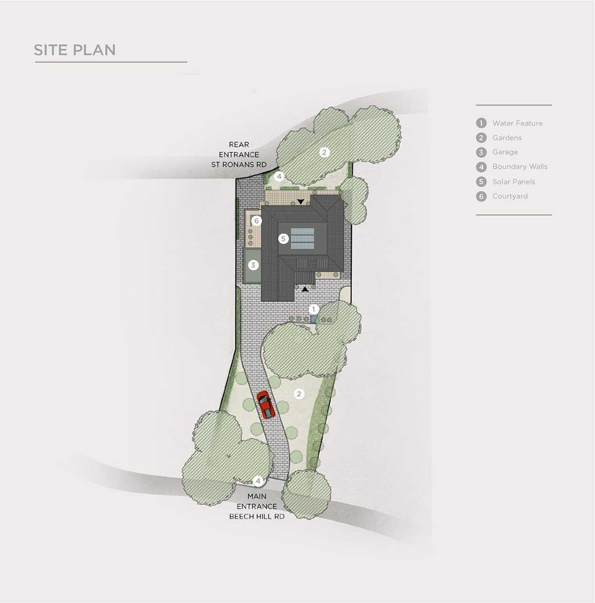 2d site plan from luxury property brochure page