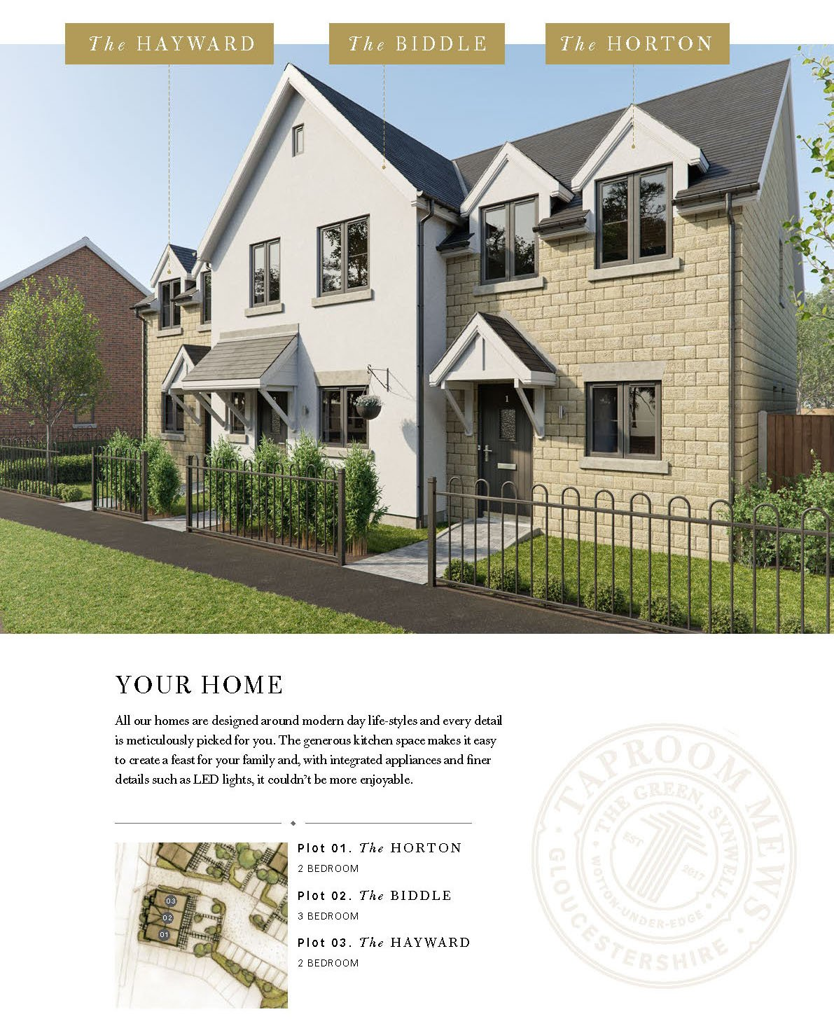 Property brochure page with 3d House Visualisation